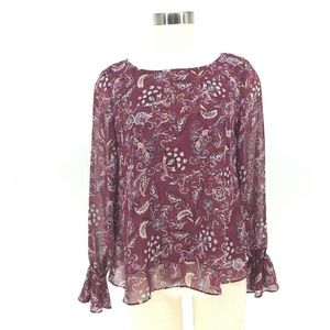 White House Black Market Top Women 6 Burgundy